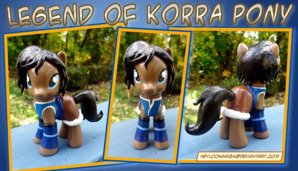 Custom Korra Pony S4 by HeyLookASign