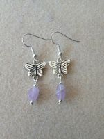 Lavender Amethyst Earrings by WhiteMagicPriestess