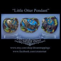 The Little Otter and Amethyst Pendant by natamon