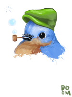 Bird, Hat, Pipe by DoomCMYK