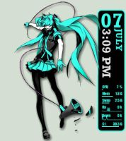 Vocaloid: Love is War Miku Rainmeter by seraphimax