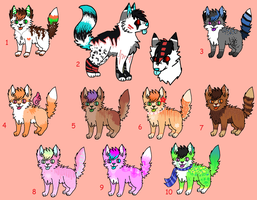 [OPEN] Unsold Adoptables #5 (Name Your Price) by Cherry-Adopts