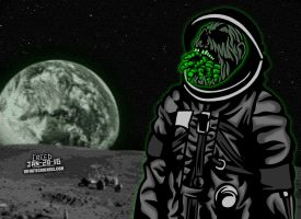 Infested Space Zombie! by CreedStonegate