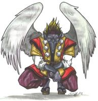 Crow Tengu Colored by Sariel367