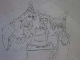 Birthday Cake Sketch by 6-9Changeling
