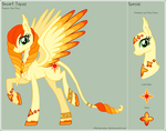 MLP - Desert Topaz Reference Sheet by theRainbowOverlord