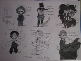 My favourite Villains by Calamity-Death