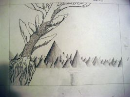 WIP of tree drawing by dvdcpu
