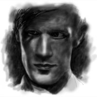 Dr Who Matt Smith Drawing by Lewis3222