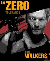 STENCIL PROJECT- Zero Tolerance For Walkers by GK2000