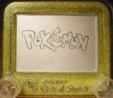 Pokemon logo etch a sketch by pikajane