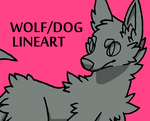20 Point Wolf/Dog Lineart by Ferwildir