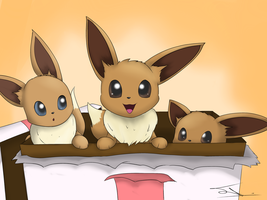 Eevee happy birthday (Gift) by JollyThinker