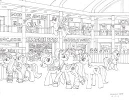 At The Mall (sketch) by lonewolf3878