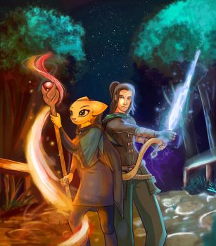 Katia and Richard battle ready by DalePineapple