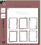 Brush Pack - Grungy Frames 02 by MouritsaDA-Stock