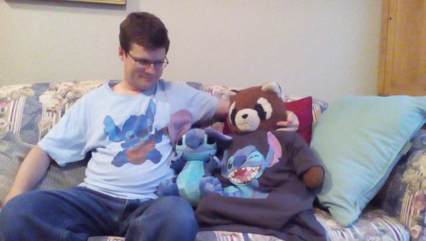 Me, Raccoon, and Stitch by HufflepuffBadger1978
