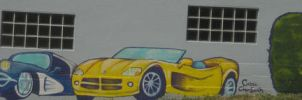 Varsity Automotive Mural by pokadotspider