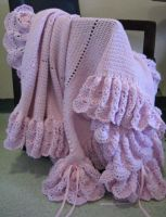 Baby Afghan in Pink by doilydeas