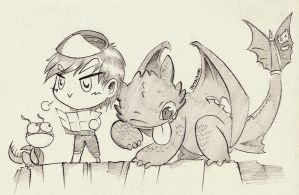 Where will we go today? #Toothless #HTTYD by jotachibi