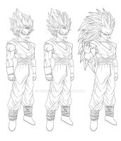 Vegetto Character sheet by JayDRivera