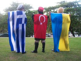 Greece Turkey and Ukraine by Jina-Chan