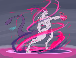 Mewtwo by SpottedAlienMonster