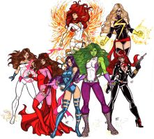 Marvel Divas Take 1 by CrimsonArtz