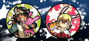 :: Button set- Tiger and Bunny by shadow-freak