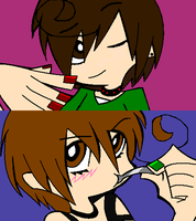 Romano and Italy PASWG style by ArtistGirl147