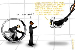 Outtakes XVI: GLaDOS and MIB III by lia-a-eastwood