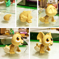Baby Kougra WIP by lyrese