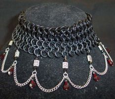 Industrial Ruby Choker by enchantress13
