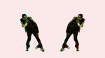 3D anaglyph animated singer will.i.am by gogu1234