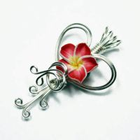 Wire Wrap Heart Perfume Pendant - Read by Create-A-Pendant