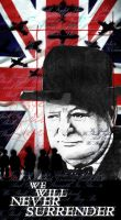 Winston Churchill final piece. by Heavy-metal-ink