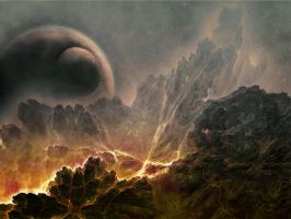 planet landscape by SallyVan