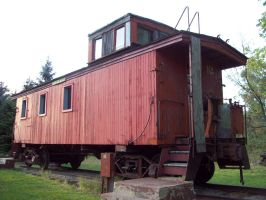 1894 GTW Wood Caboose by DraftHorseTrainer