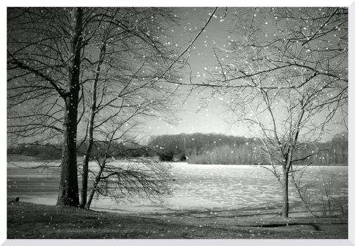 The Lake In Winter by TheMan268