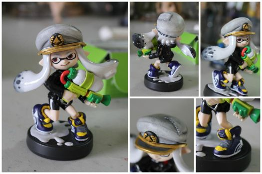 Custom Inkling Amiibo #75 | White Inkling Girl by PixelCollie