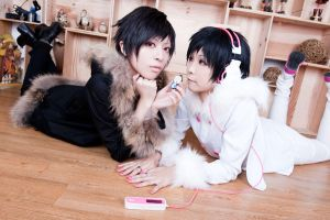 izaya and saike_2 by yui930