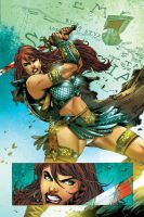 Red Sonja_Color Test by MARCIOABREU7