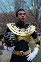 King/Gold Ranger Cosplay Helmet off by KellHiro