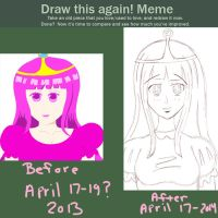 Meme || Before and After || Princess Bubblegum by xX-KiyomiHime-Xx