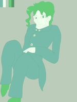 more kakyoin w/ color pallet by MuffinMuffinz