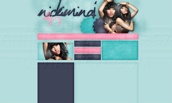 Layout: Nicki Minaj by iseayoubeach