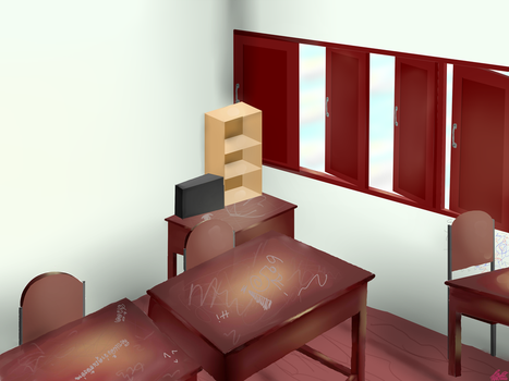 Thai Middle school class room by devilg04