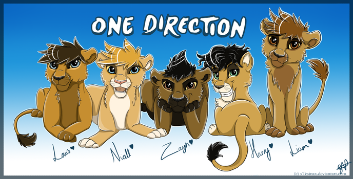 One Direction Cubs by Thealess