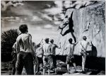 The Boulder Boys - Charcoal on A2 Paper. by Joolsthe1st
