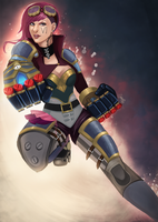 Vi - the piltover enforcer by BlackKitty68